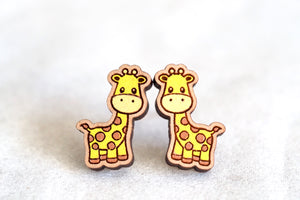 Giraffe Wooden Earrings