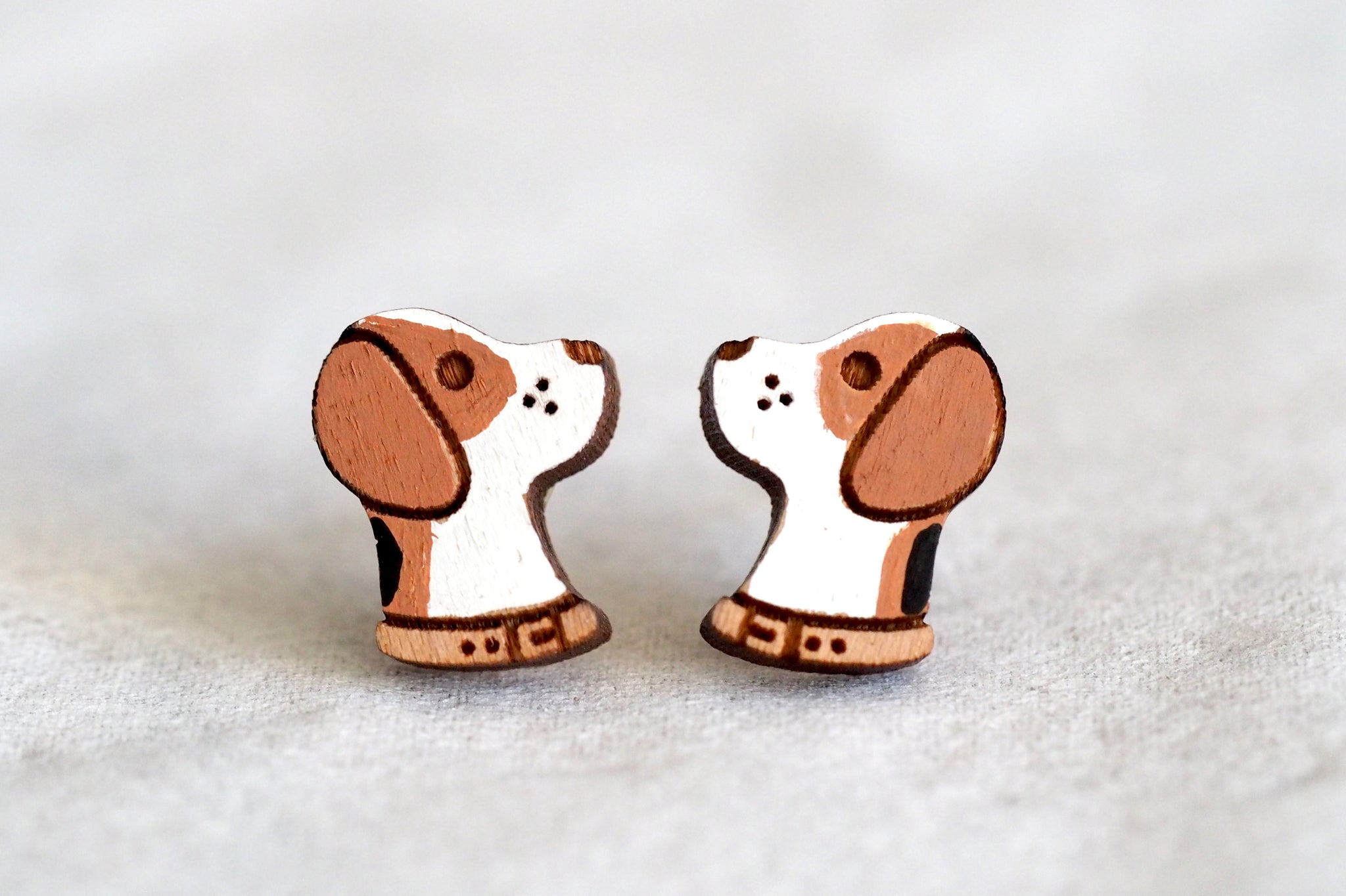 Beagle Wooden Earrings