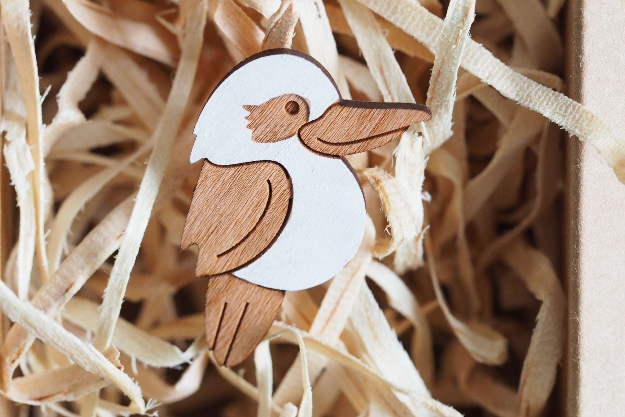 Kookaburra Brooch - Australia Native Birds Lover