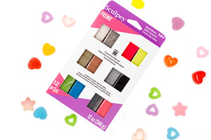 Premo Sculpey Mixed Effect Accents Sampler 12 Pc 340g