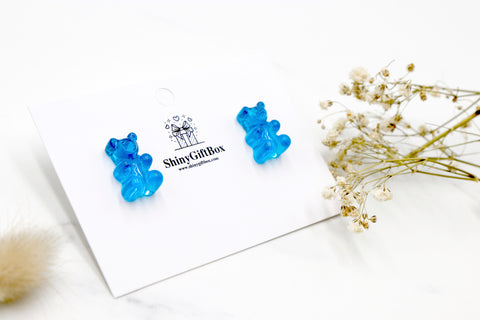 Gummy Bear Studs -  Blue