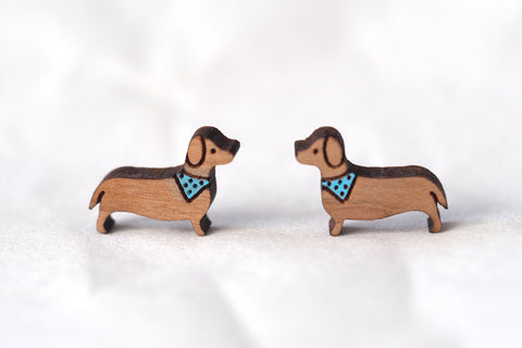 Dachshund / Sausage Dog Wooden Earrings