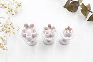 Mini Flowers Clay Cutters - A 3pc