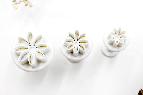 Mini Flowers Daisy Clay Cutters - Daisy 3pc