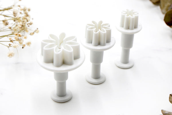 Mini Flowers Clay Cutters - Daisy 3pc