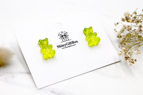 Gummy Bear Studs -  Green