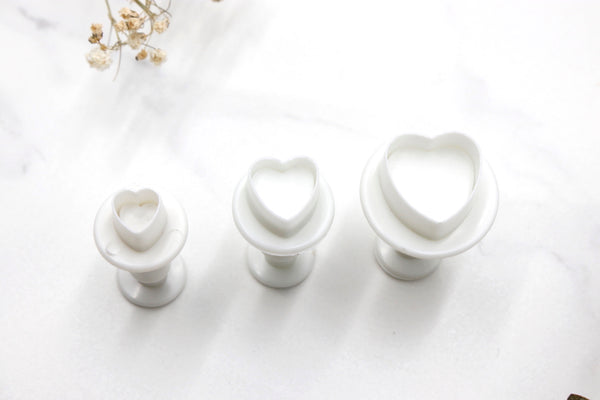 Mini Round Hearts Clay Cutters - 3pc