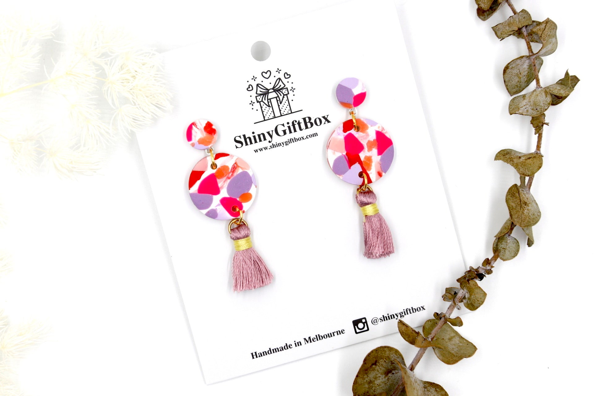 Hot Pink & Purple Tassels Dangles