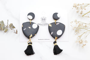 Black & Gold Triangle Statement Tassel