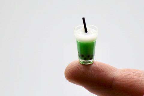 Miniature Bubble Tea - Green Matcha