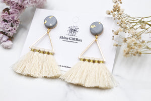 White Triangle Tassels
