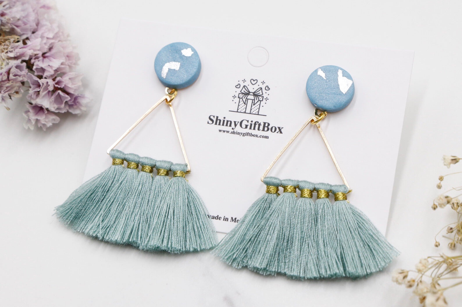 Turquoise Triangle Tassels