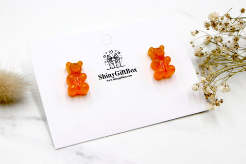 Gummy Bear Studs -  Orange