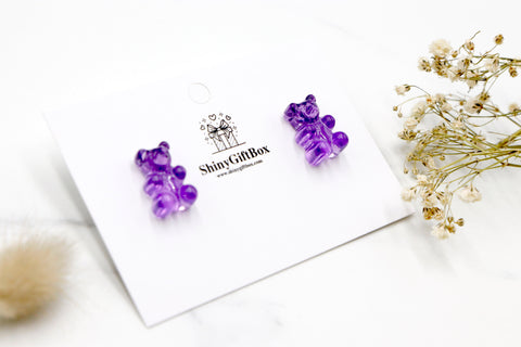 Gummy Bear Studs -  Purple