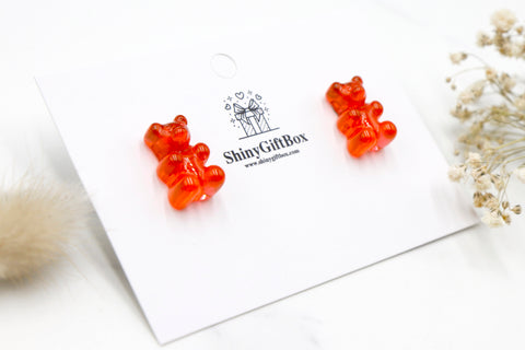 Gummy Bear Studs -  Red