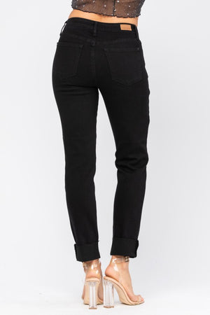 Judy Blue Black Destroyed Slim Fit Jeans