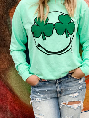 *Preorder* Shamrock Smiley Face Graphic Tee