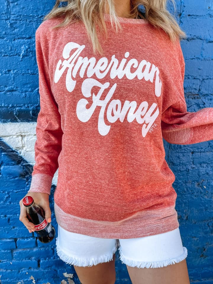 American Honey Graphic French Terry Pullover