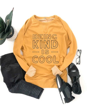 *Preorder* Being Kind Is Cool French Terry Raglan Graphic Sweatshirt
