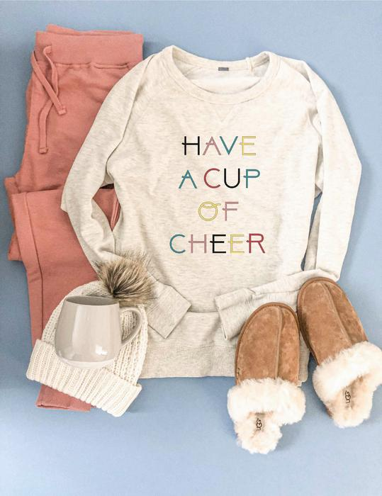 *Preorder* Have a Cup of Cheer Graphic French Terry Raglan