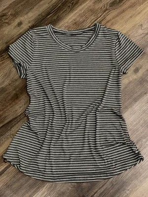 Dark Gray & White Darling Tee