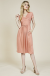 Short Sleeve Surplice Dress with Pockets - The Modern Gypsy Collection