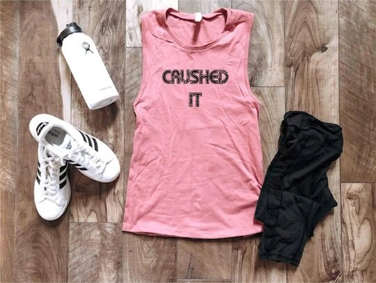 *Preorder* Crushed It Women's Graphic Muscle Tank