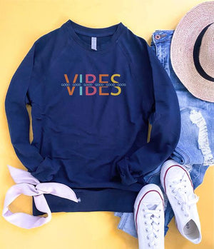 *Preorder* Good Vibes French Terry Raglan Graphic Sweatshirt