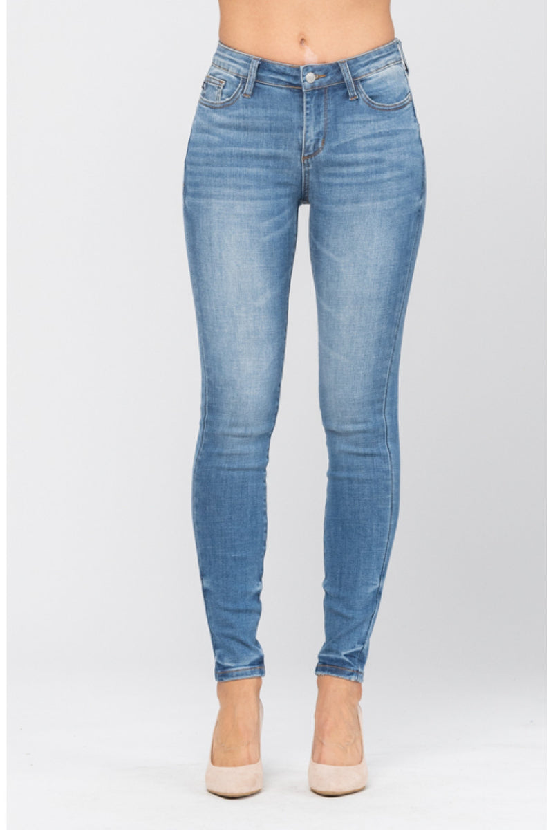 Judy Blue Pin Tacked Non Distressed Skinny Jeans 8859
