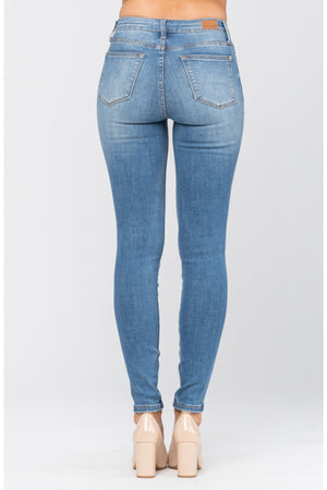 Judy Blue Pin Tacked Non Distressed Skinny Jeans