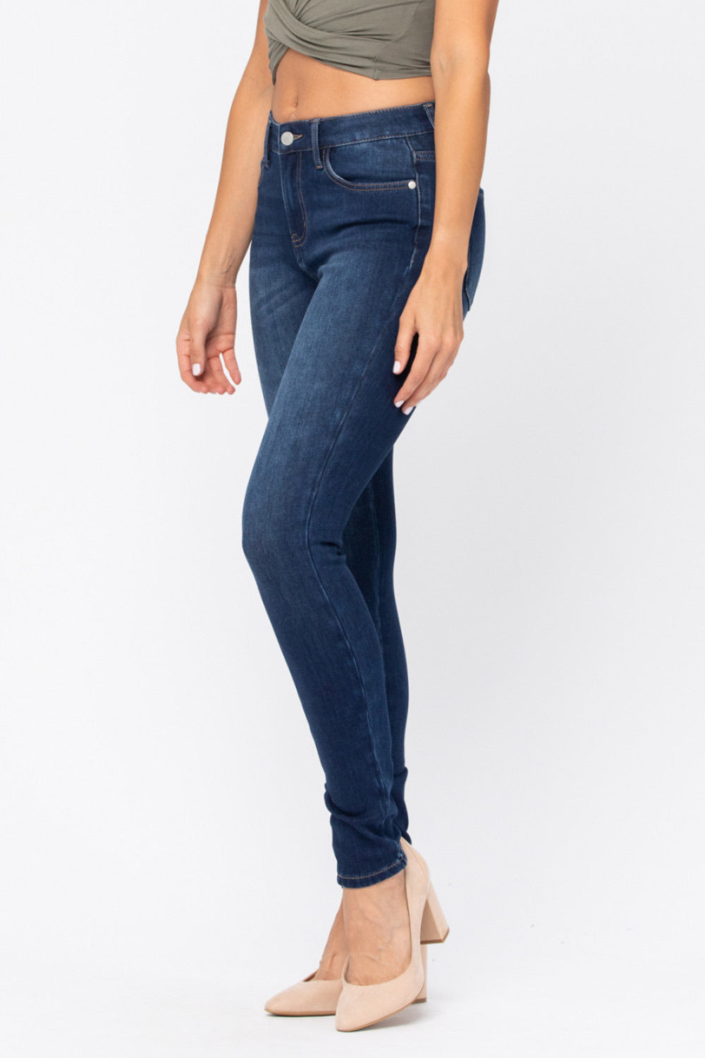 Judy Blue THERMADENIM Non Distressed Skinny Jeans 88113