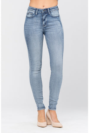 Judy Blue High Rise Heavy Hand Sand Skinny Jeans 82190