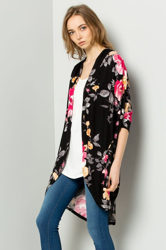 Black Floral Cardigan - The Modern Gypsy Collection