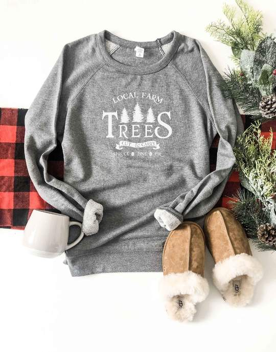 *Preorder* Local Farm Trees Graphic French Terry Raglan