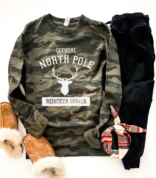 *Preorder* North Pole Camo Graphic Sweatshirt