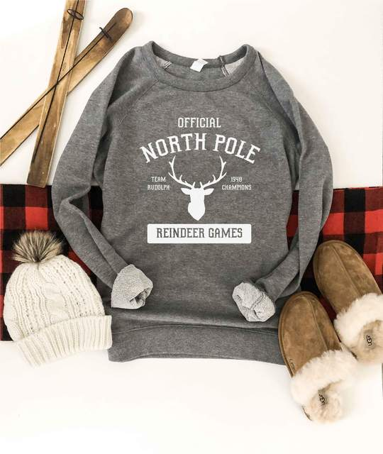 *Preorder* North Pole French Terry Raglan Graphic Sweatshirt