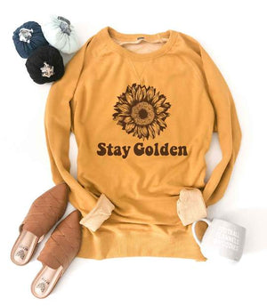 *Presale* Stay Golden Raglan Sweatshirt