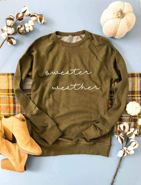 *Preorder* Sweater Weather French Terry Raglan Graphic Sweatshirt