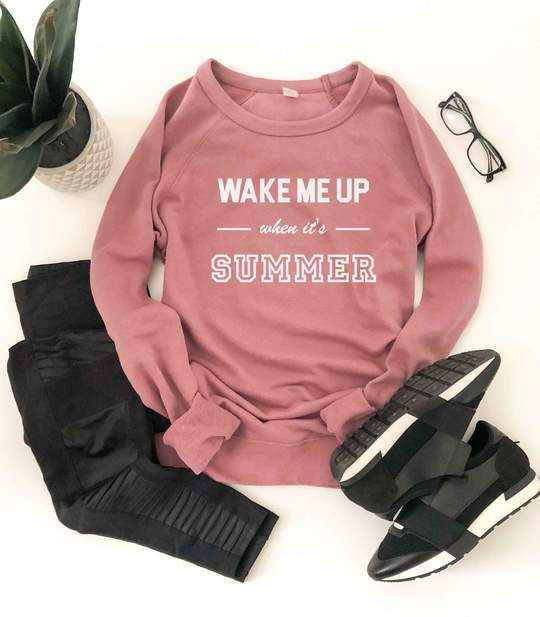 *Preorder* Wake Me Up French Terry Raglan Graphic Sweatshirt