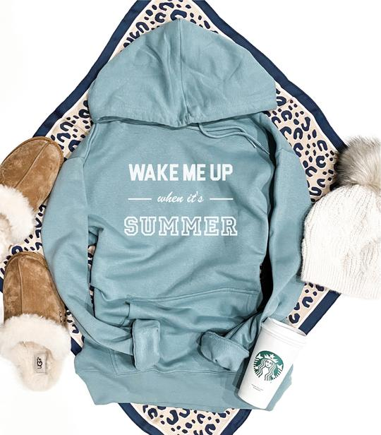 *Preorder* Wake Me Up When It's Summer Graphic Fleece Hoodie
