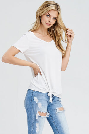 Effortless White Front Tie Top - The Modern Gypsy Collection