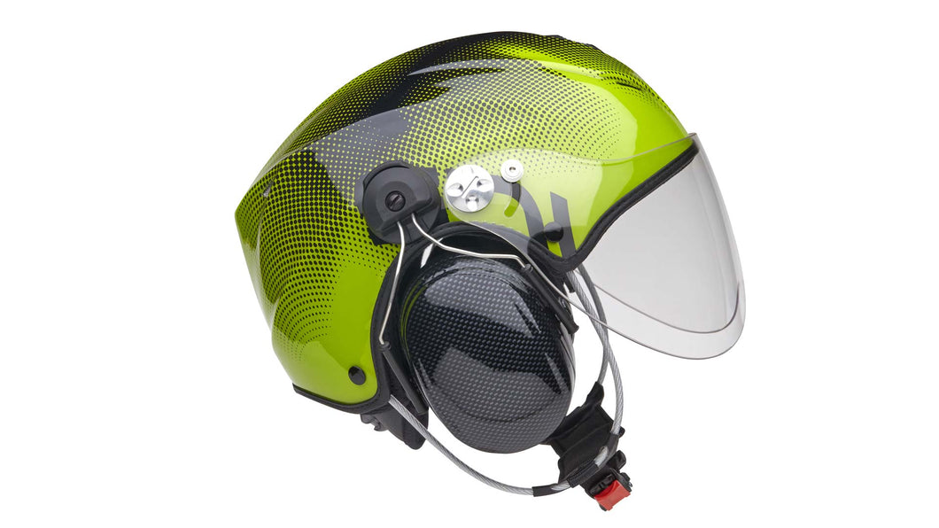 Icaro Solar X Paramotoring Helmet from SkySchool in Green from SkySchool