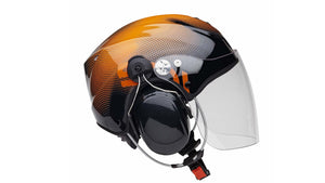 Icaro Solar X Paramotoring Helmet from SkySchool in Orange and Black from SkySchool