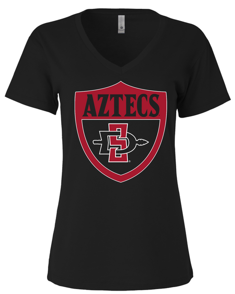 San Diego State Aztecs Shield - Womens Vneck