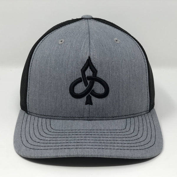 Aced Out Logo - Grey/Black Trucker