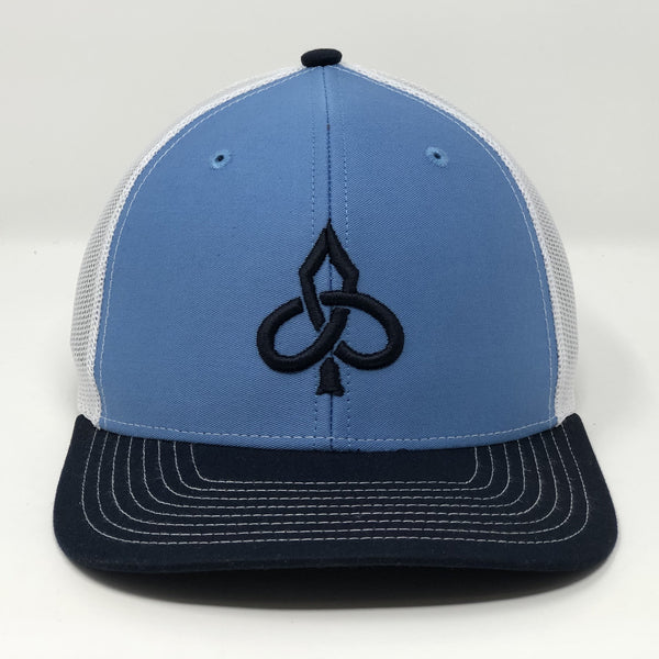 Aced Out Logo - Navy/Turquoise Trucker
