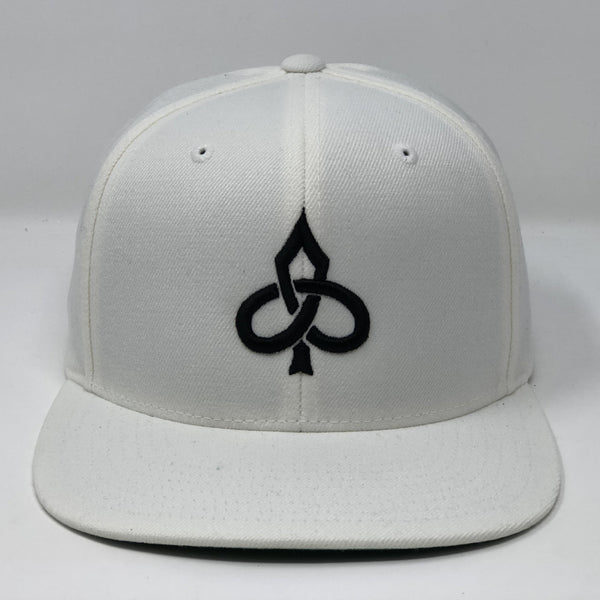 Aced Out Logo - White Snapback