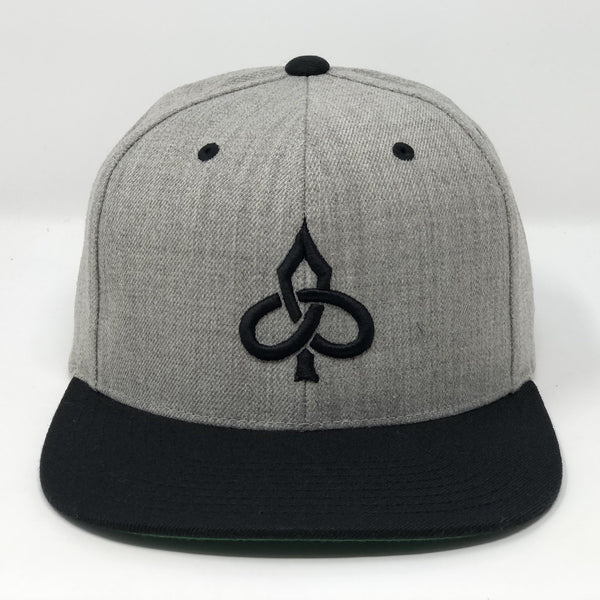 Aced Out Logo - Grey/Black Snapback