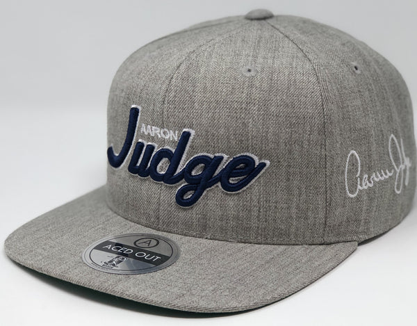 Aaron Judge Script Hat - Grey Snapback