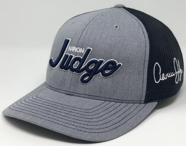 Aaron Judge Script Hat - Grey/Navy Trucker